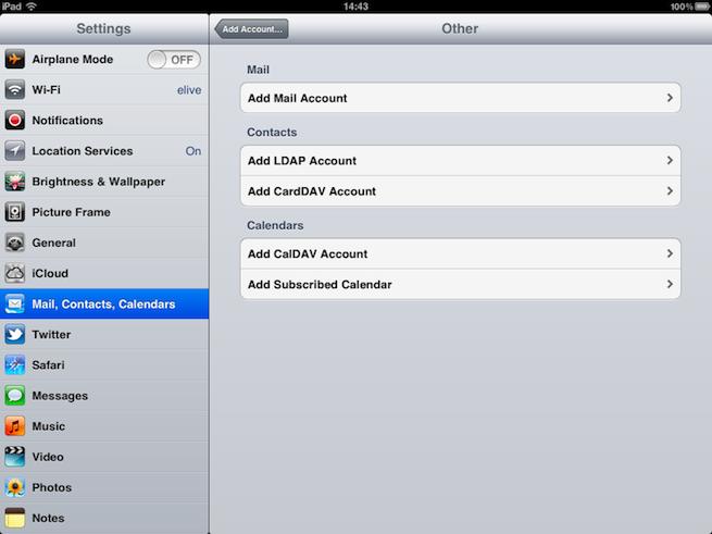 how to add yahoo mail to ipad