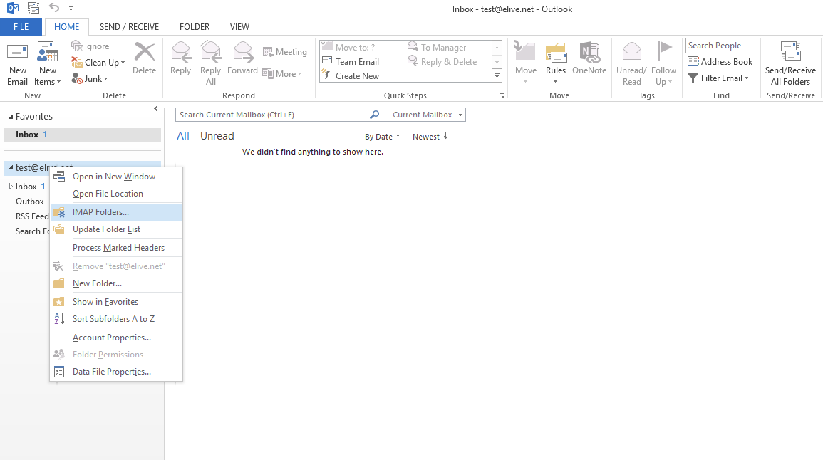 Empty inbox Meme 1 On The Email Account That Is Set Up In Outlook 2013 Right Click On It And You Should See Menu Appear Topatoco Outlook 2013 Empty Inbox Fix Knowledgebase Elive Ltd
